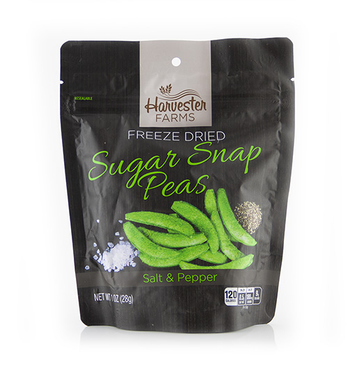 Brothers All Natural Launches Savory, Crunchy Harvester Farms  Freeze-Dried Sugar Snap Peas With Salt and Pepper