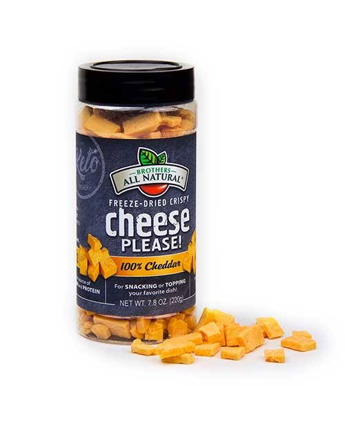 Brothers All Natural Releases Limited Edition Freeze-Dried Crispy Cheddar Cheese.
