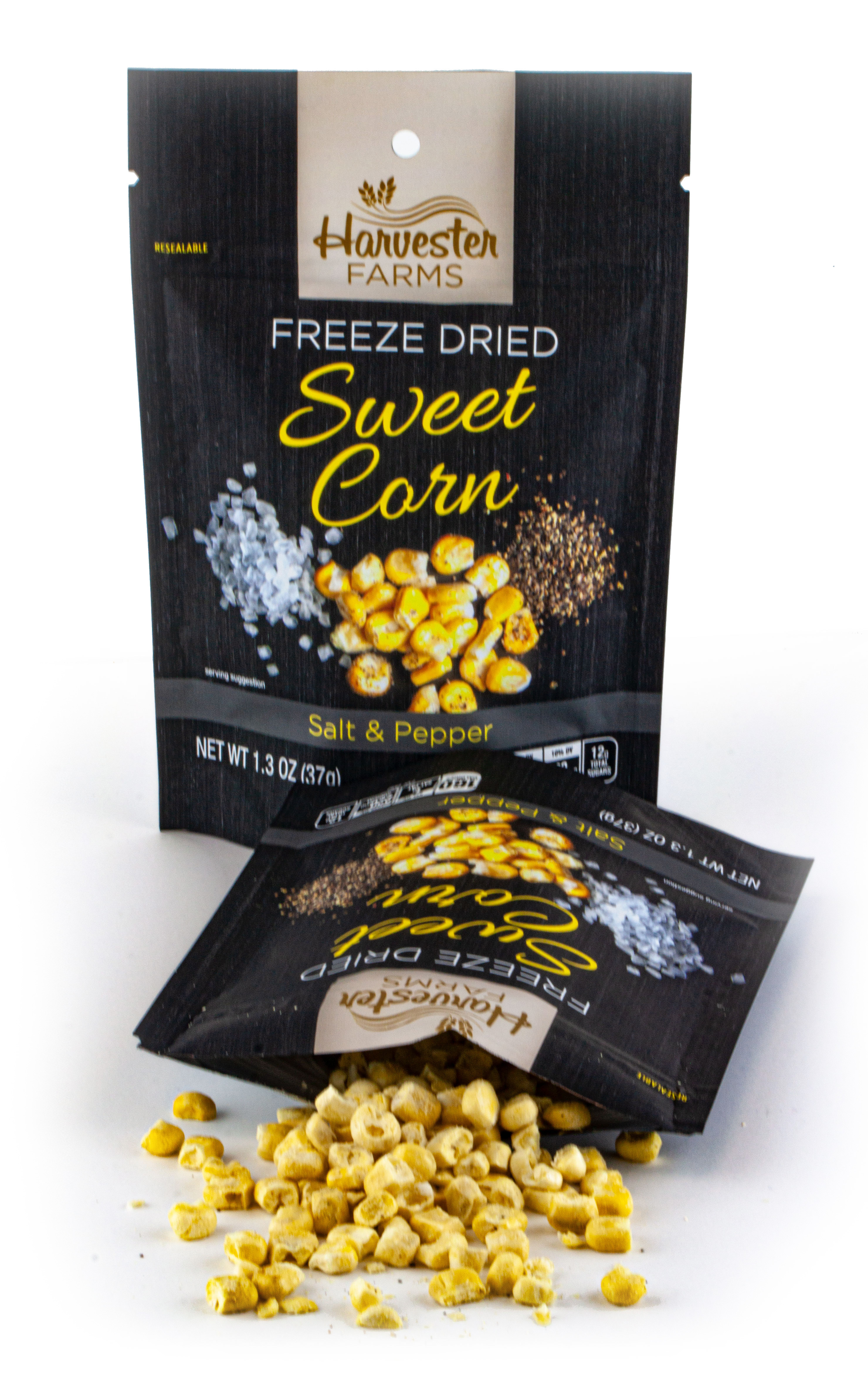 Brothers All Natural Launches Savory, Crunchy Harvester Farms  Freeze-Dried Sweet Corn with Salt and Pepper